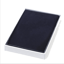Long evening clutch - navy satin