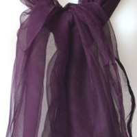 Long foulard - dark purple - 100 % chiffon