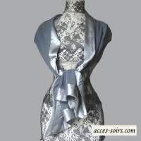 Dark grey aumonière for weddings or evenings