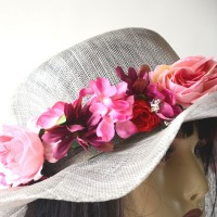 Light grey wedding hat
