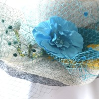 Ivory wedding hat - cheap and without trimmings - sinamay
