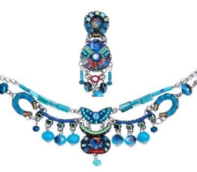 Ayala Bar necklace - turquoise, blue, green, red