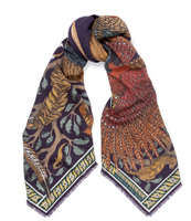 "Grand foulard carré Sabina Savage -100 % soie - 90 cm ""Pheasant Tree"""
