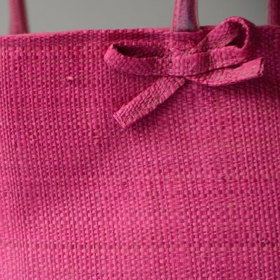 Large tote bag - raphia/rabanne from Madagascar - hand made