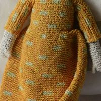 "Sophie Digard doll - Collection ""Pollen"" - design ""Petits Pois"""