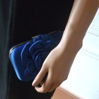 Evening clutch - royal blue satin