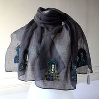 "Long Sophie Digard scarf ""Madonnas"""