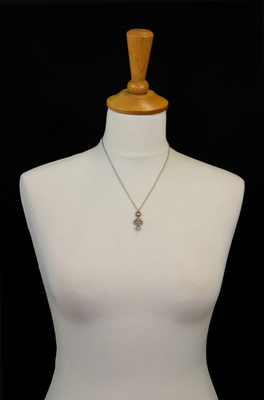 Ayala Bar - necklace, pendant - silver, coral, red and yellow
