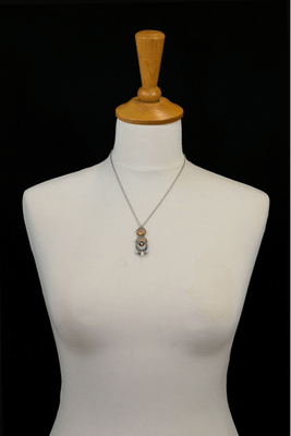 Pendant and chain Ayala Bar - variety of  colours and materials