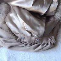 Large boa champagne wrap - inner satin