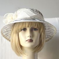 Little wedding hat - sinamay - 2 colours : ivory and black
