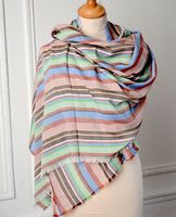 Large and long wrap - 100% viscose - 3 colour arrays