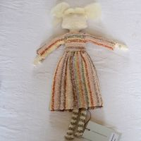 """Sophie Digard doll - """"Houblon"""" - hand crocheted linen"""