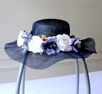 Hair accessory crown for weddings with blue flowers