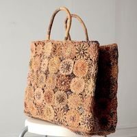 Large tote bag - Sophie Digard creations - raphia, macramé and crochet - handcrafted