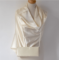 Weddings, evenings beige/ivory wrap - Silk and viscose