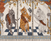 """Large warm square scarf : """"The feline Trinity"""" - wook and silk - 135 cm each side - Colour """"pearl"""""""