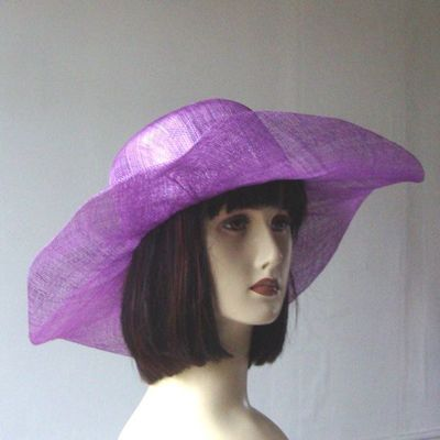 Simple sinamay hat. 5 COLOURS!