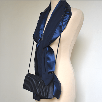 Navy matching duo : stole and evening bag - Weddings, evenings