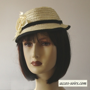 Mini straw trilby hat