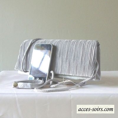 Middle grey evening bag