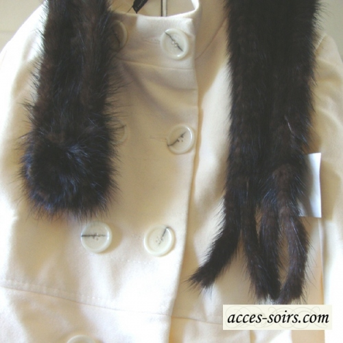 Light brown mink collar