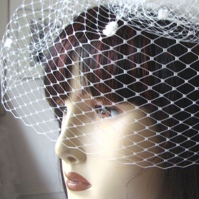 Birdcage veil with or without spots, around 46/ minimum 20 cm. 25 COLOURS