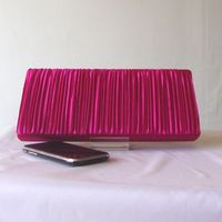 Evening bag - pleated satin. About 20 colours!