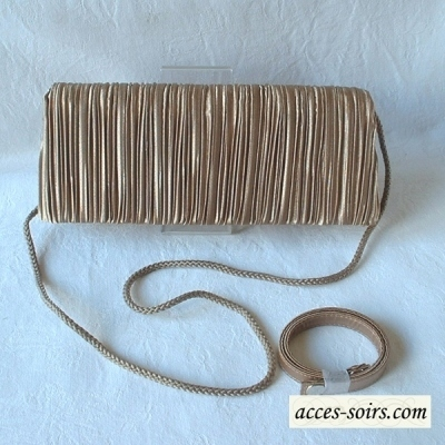 Classical and classy : the long warm golden brown evening clutch