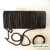 "Black evening bag/clutch ""baguette"" shaped"