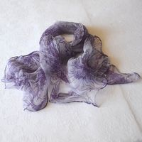 Long mauve foulard - silk mousseline