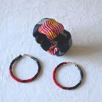 African wax jewel set : earrings and bracelet