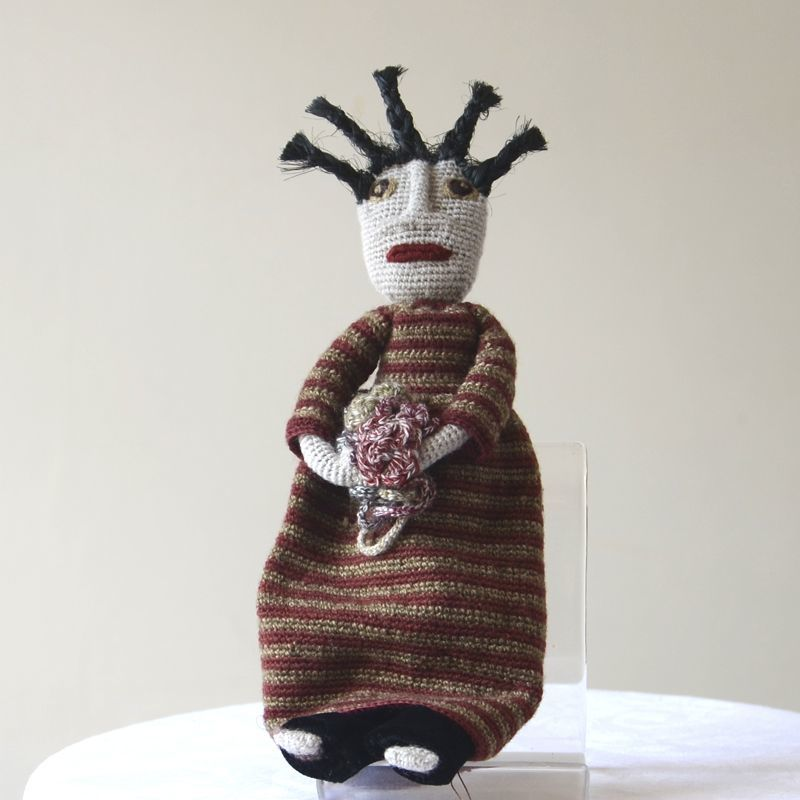 Hand crocheted Sophie Digard big doll