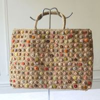 Sophie Digard tote bag, beach bag - all hand made with raffia and velvet