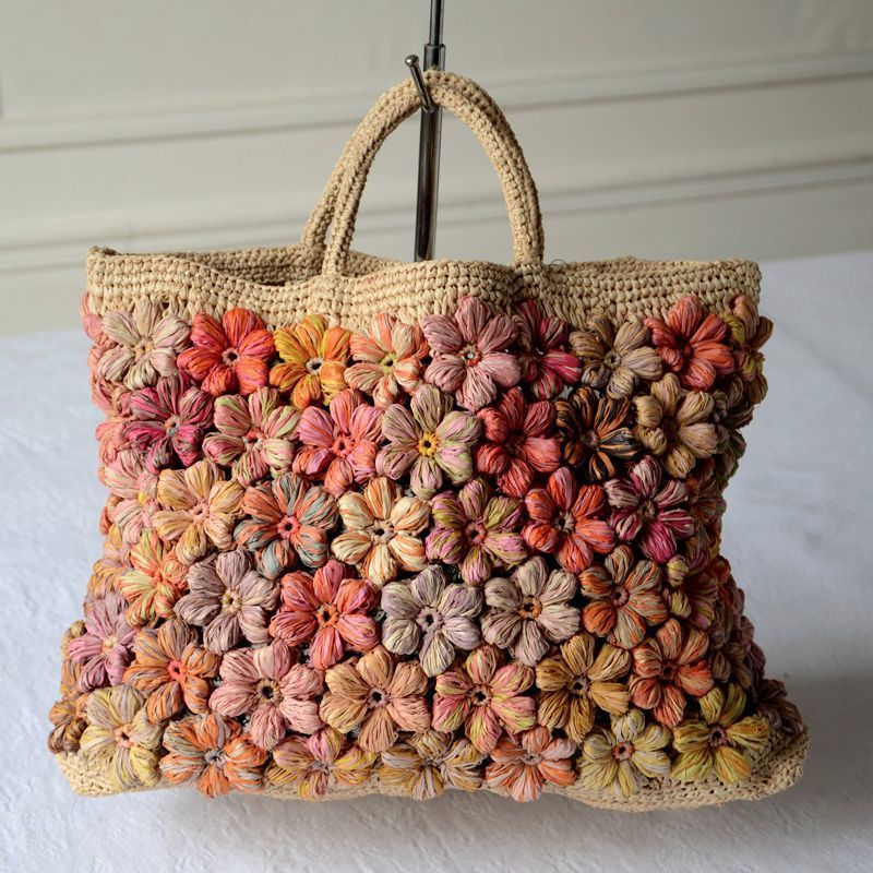 Large Tote Bag By Sophie Digard Hand Knotted And Hand