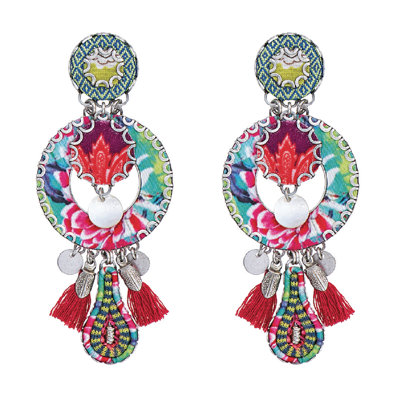 "Large earrings on clips by Ayala Bar - ""HIP"" collection"