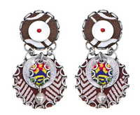 Ethnic style Ayala Bar earrings for pierced ears