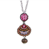 Ayala Bar - necklace neck pendant in soft pink and gold hues