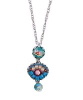 Ayala Bar necklace neckpendant - turquoise hues