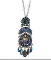 Ayala Bar necklace pendant - night blue and black hues