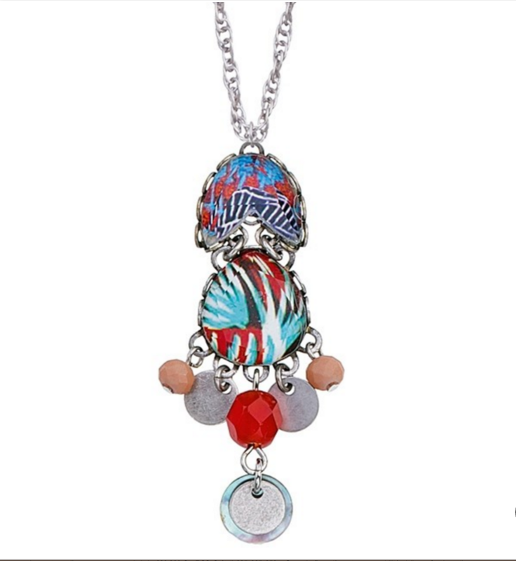 Jewel Ayala Bar - necklace, neck pendant - turquoise and coral
