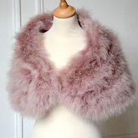 Large boa dust pink wrap - inner satin