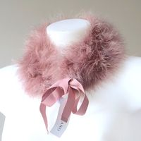 Neck wrap - wood pink boa