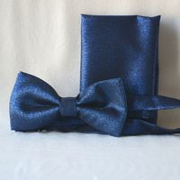Royal blue brilliant bow tie - for weddings, evenings formal parties