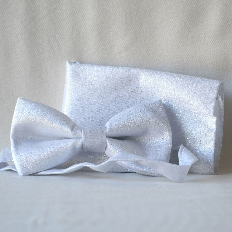 5a4ef2e6fc86 Bow tie - very light bright silver - for weddings, evenings, galas, formal  ...