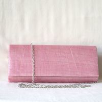 Wedding, evening clutch - light pink sinamay