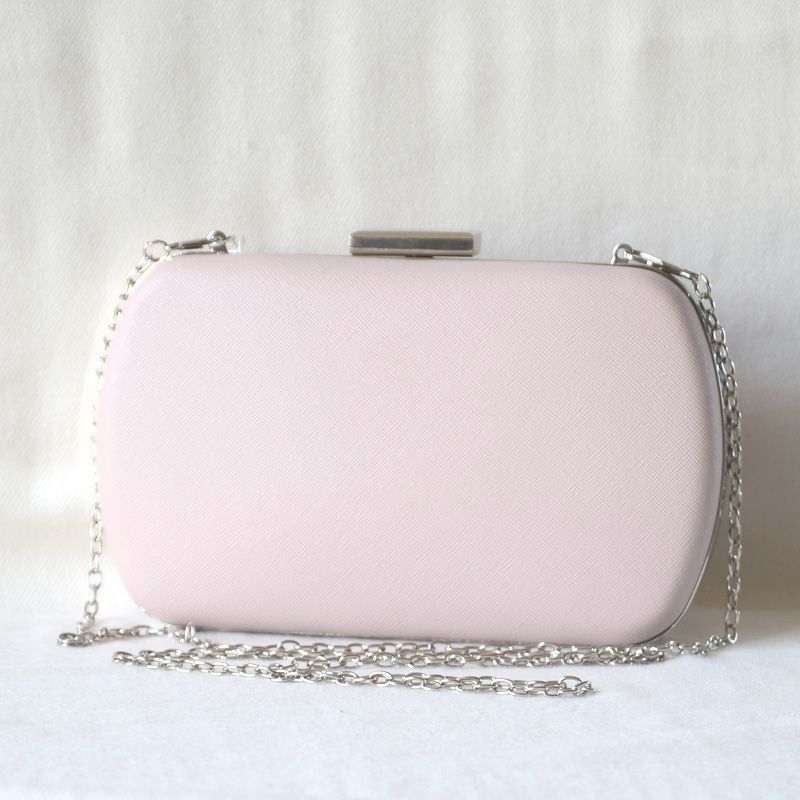 Powder pink evening clutch, wedding  bag