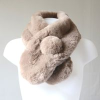 Light brown fake fur scarf