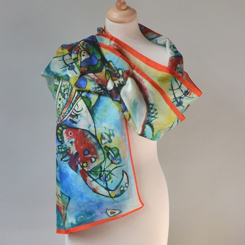 "Long and large wrap ""Miro"" - 100 % silk"