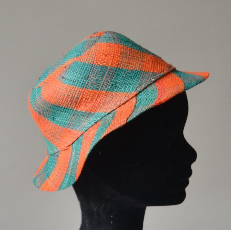 Little hat for grils - orange and green